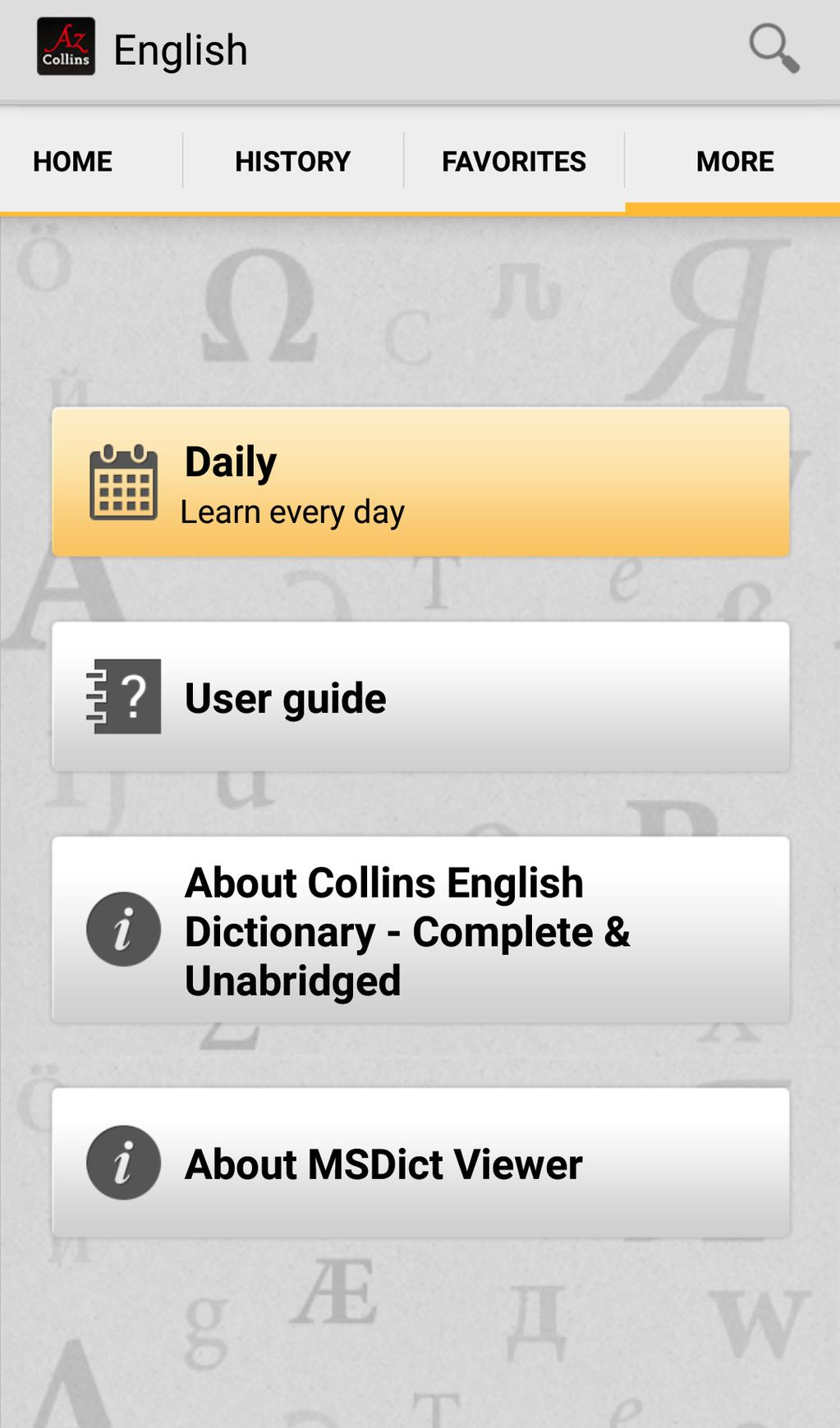 Collins English Dictionary Complete & Unabridged Screenshot 12