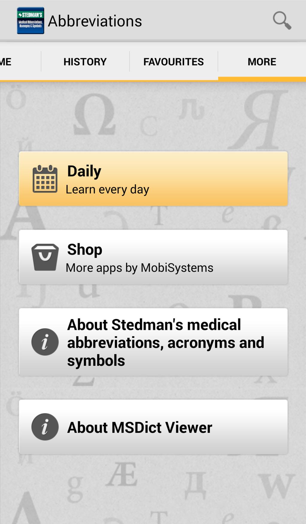 Stedman's Medical Abbreviations, Acronyms and Symbols Screenshot 4