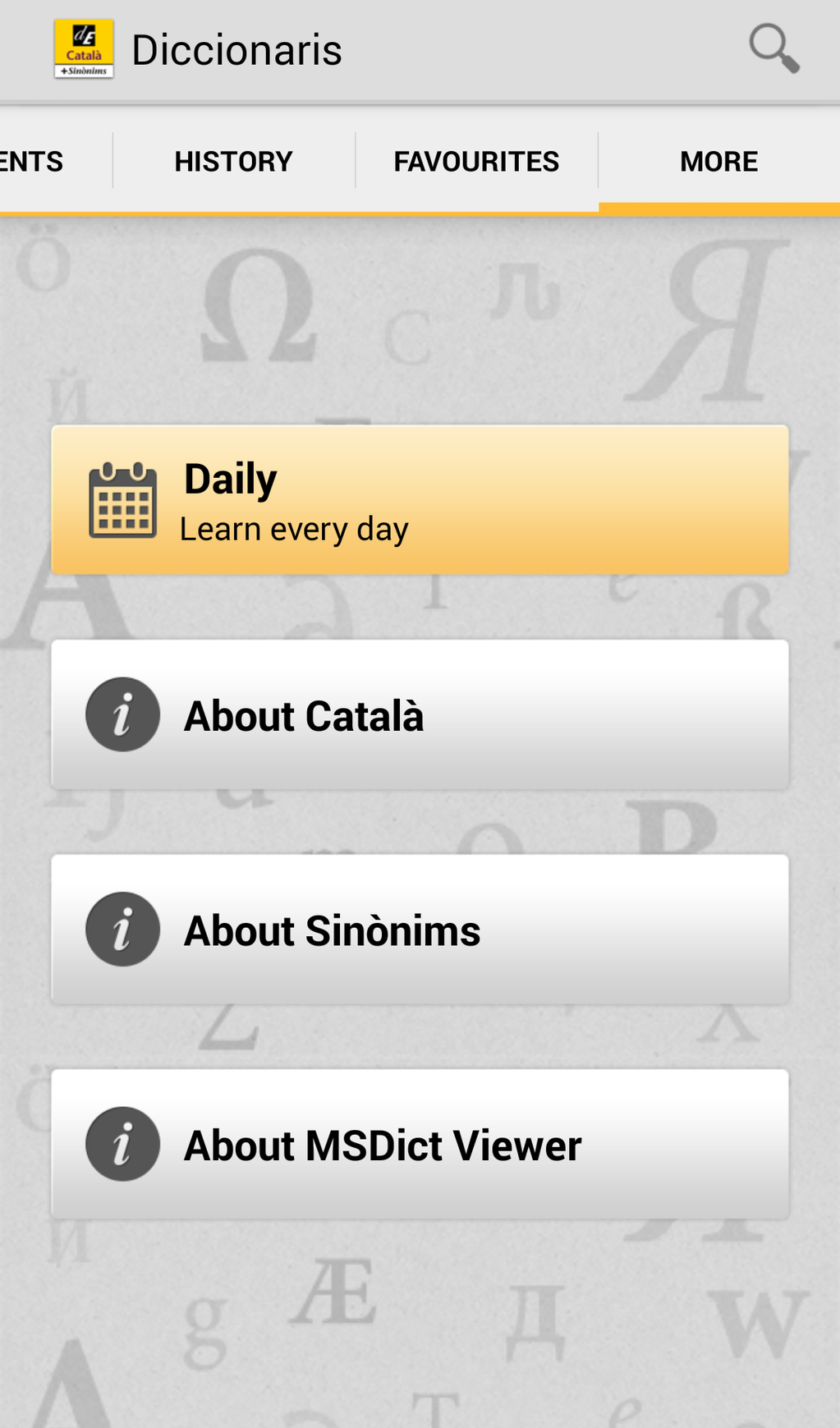 Advanced Catalan Dictionary and Thesaurus Screenshot 6