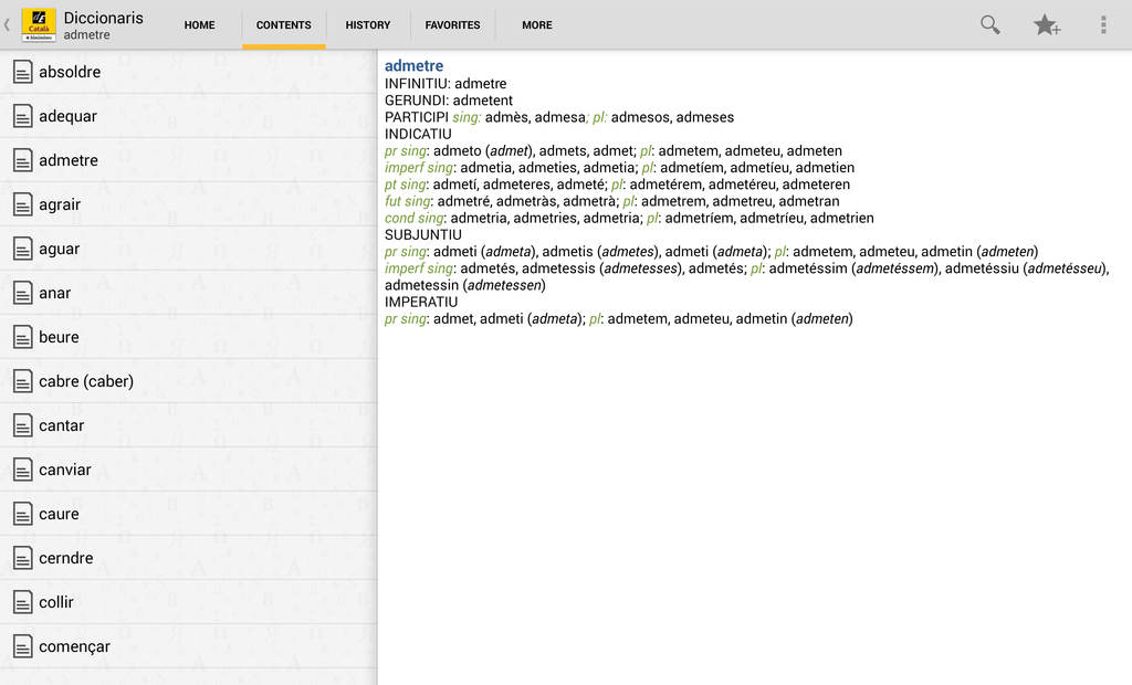 Advanced Catalan Dictionary and Thesaurus Screenshot 10