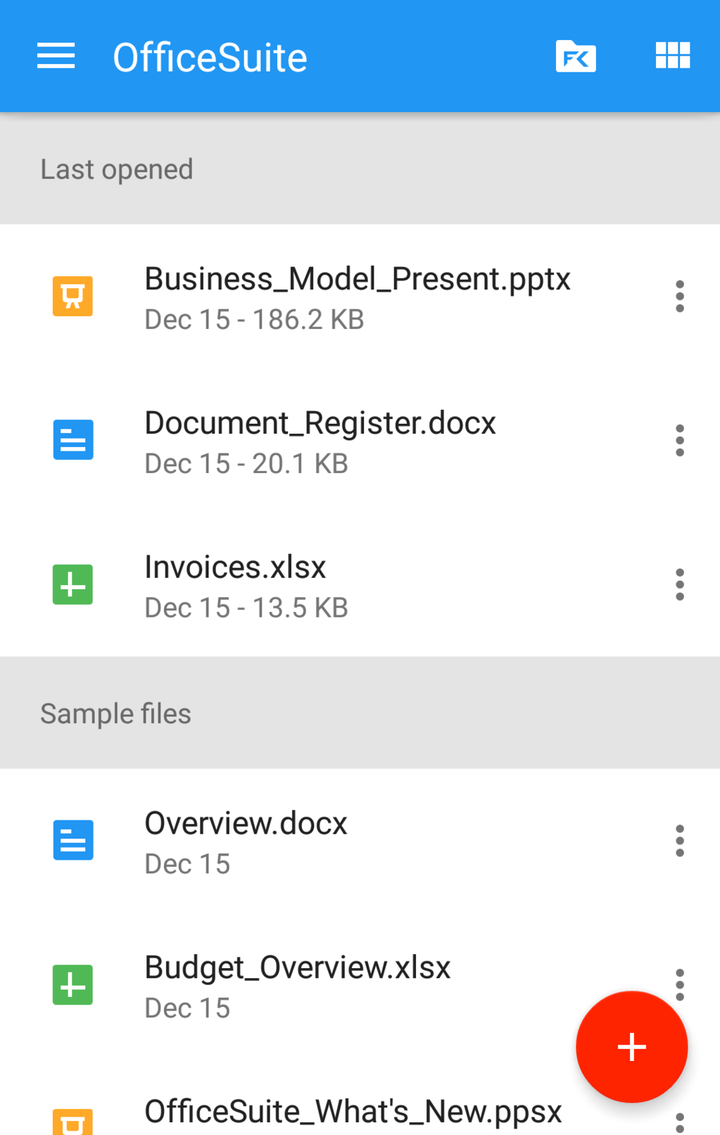 OfficeSuite Professional Screenshot 3