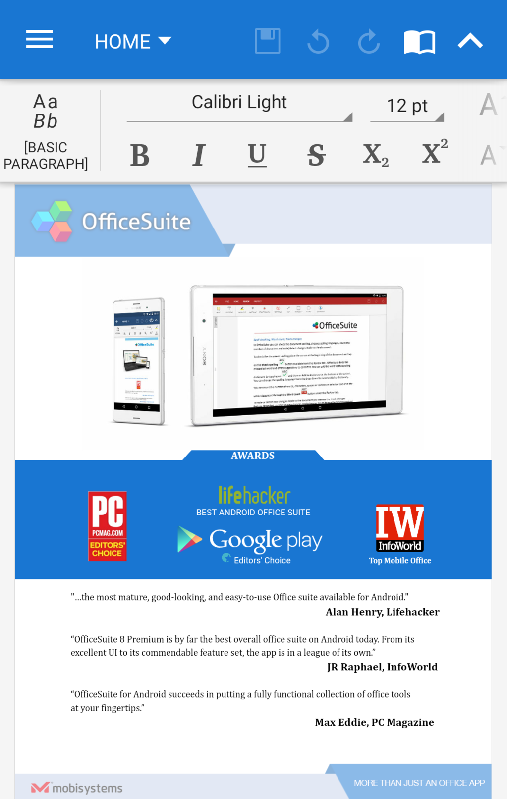 OfficeSuite Professional Screenshot 21
