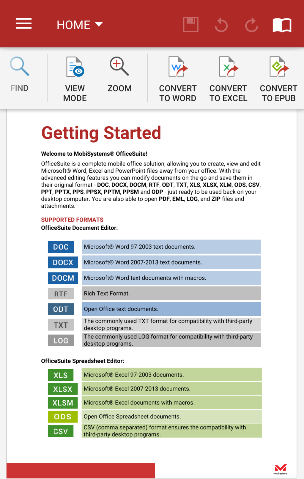 OfficeSuite Professional Screenshot 4