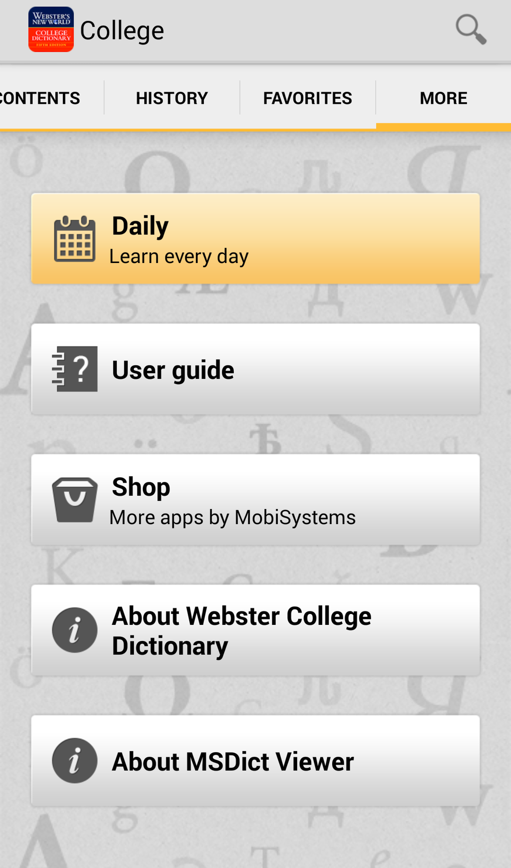 Webster's New World College Dictionary Screenshot 5