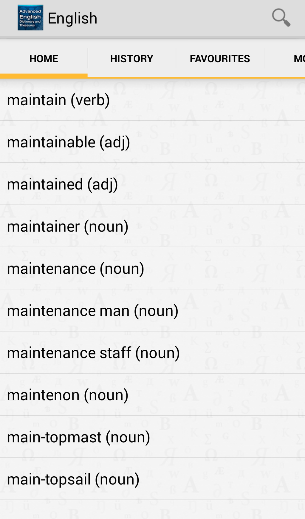 Advanced English Dictionary & Thesaurus Screenshot 13