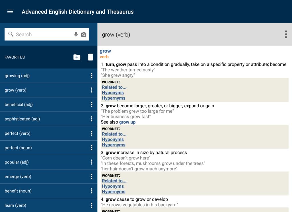 Advanced English Dictionary & Thesaurus Screenshot 7