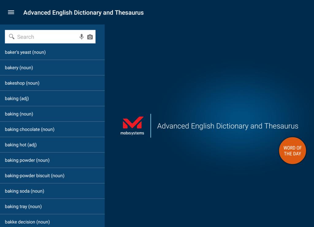 Advanced English Dictionary & Thesaurus Screenshot 2