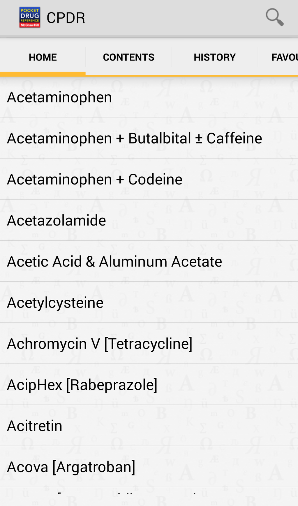 Clinician's Pocket Drug Reference 2016 Screenshot 2