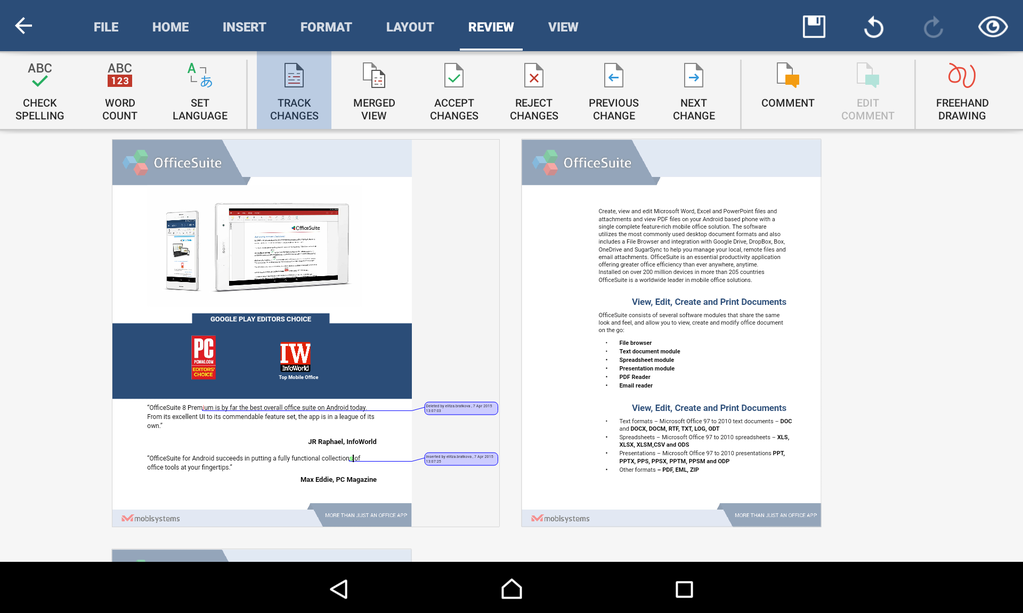 OfficeSuite Free Screenshot 10