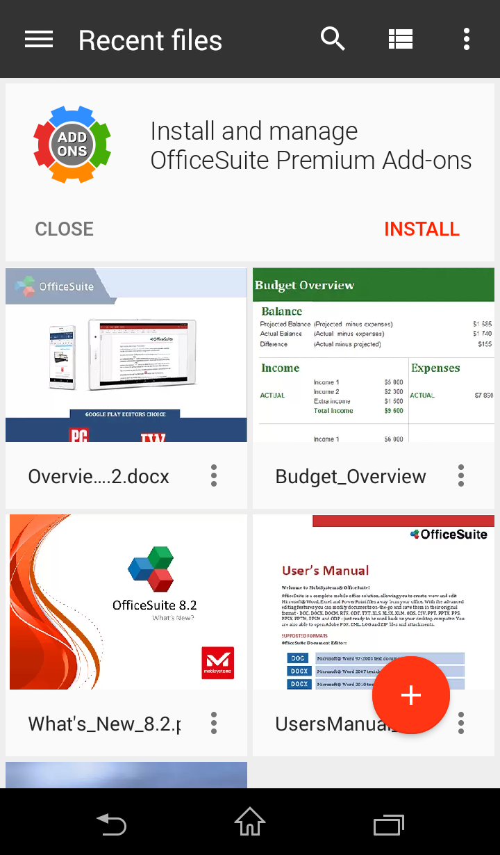 OfficeSuite Free Screenshot 3