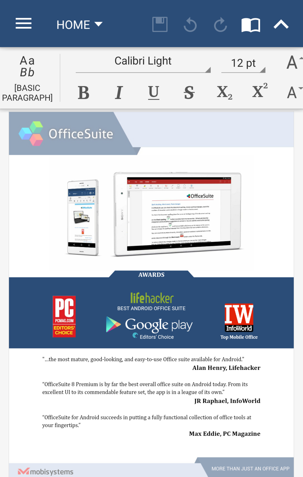 OfficeSuite Free Screenshot 12