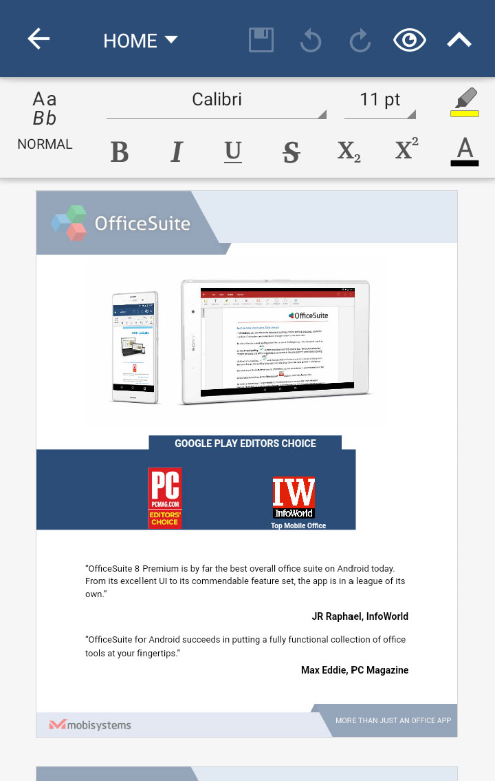 OfficeSuite Free Screenshot 22