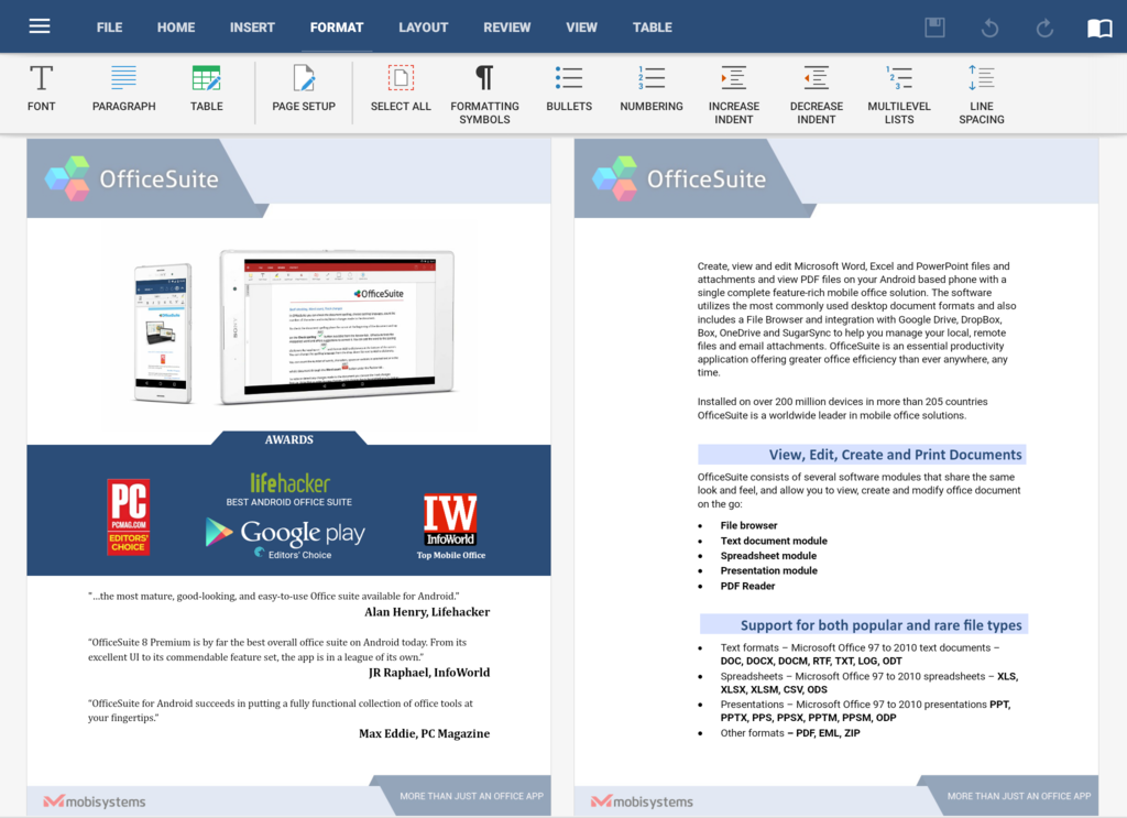 OfficeSuite Free Screenshot 20