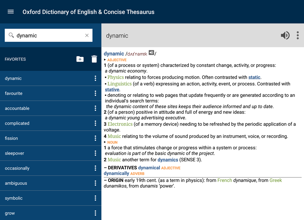Oxford Dictionary of English and Thesaurus Screenshot 6