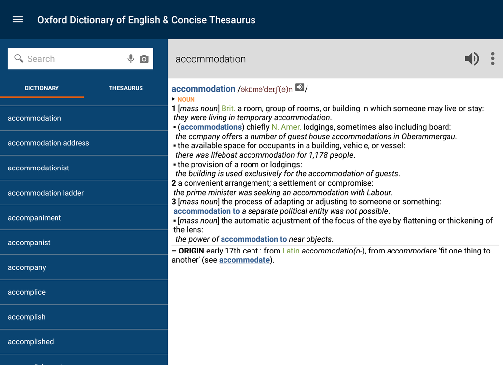 Oxford Dictionary of English and Thesaurus Screenshot 4