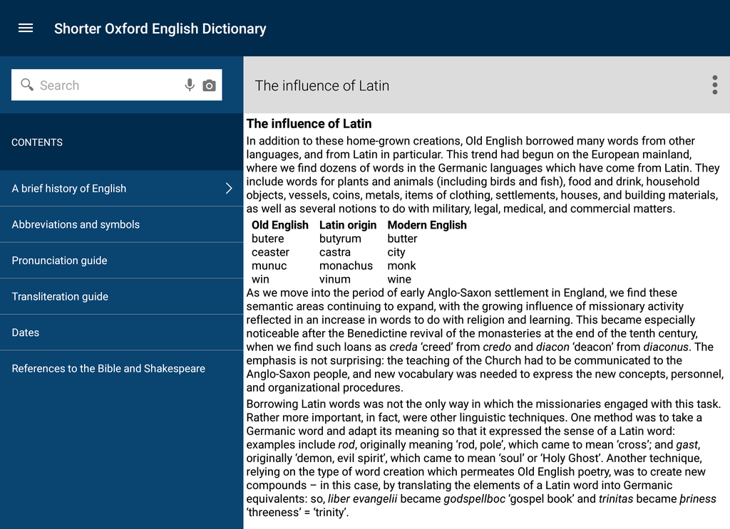 Shorter Oxford English Dictionary Screenshot 8
