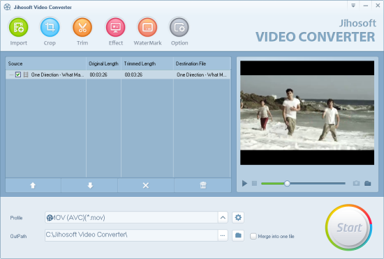 Jihosoft Video Converter for Mac Screenshot