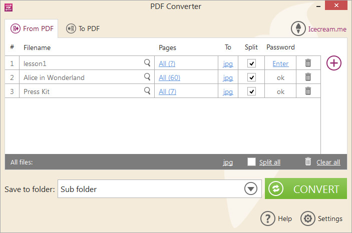 Icecream PDF Converter Screenshot 2