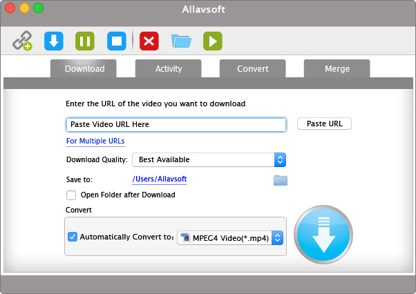 Allavsoft for Mac Screenshot