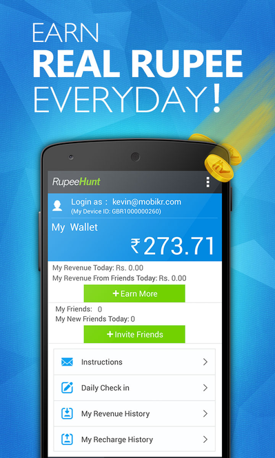 RupeeHunt - Get Real Rupee Screenshot