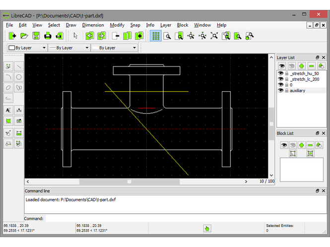 Portable LibreCAD Screenshot 1