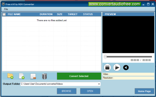 Free AVI to MOV Converter Screenshot