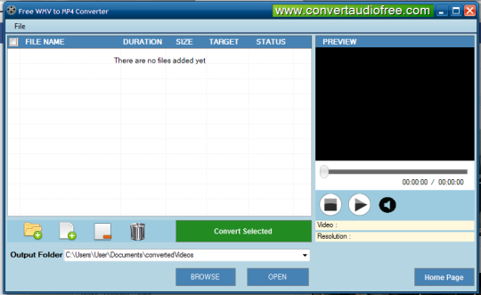 Free WMV to MP4 Converter Screenshot