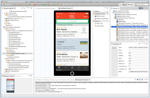 Mobile Application Testing EZ TestApp Screenshot