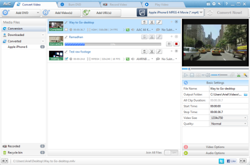 Any Video to DVD Converter and Burner Screenshot 1