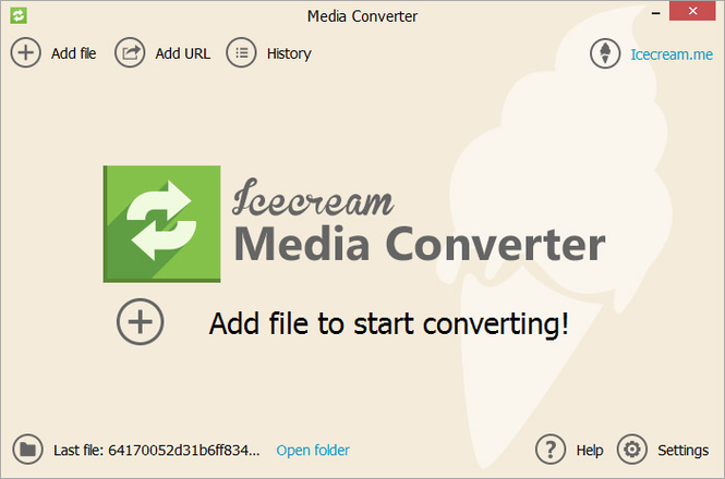 Icecream Media Converter Screenshot