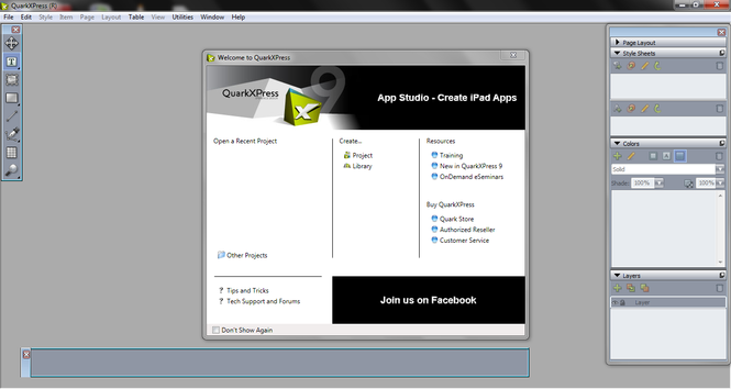 QuarkXPress Screenshot