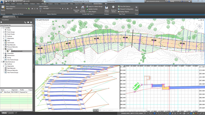 Autodesk AutoCAD Civil 3D Screenshot