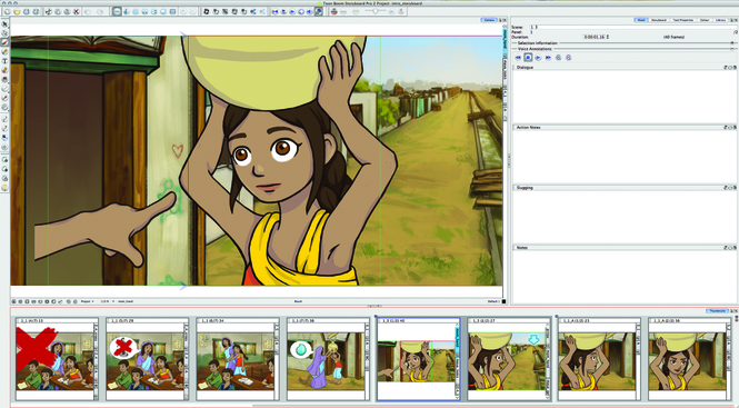 Toon Boom Storyboard Screenshot