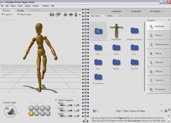 Poser Figure Artist Screenshot