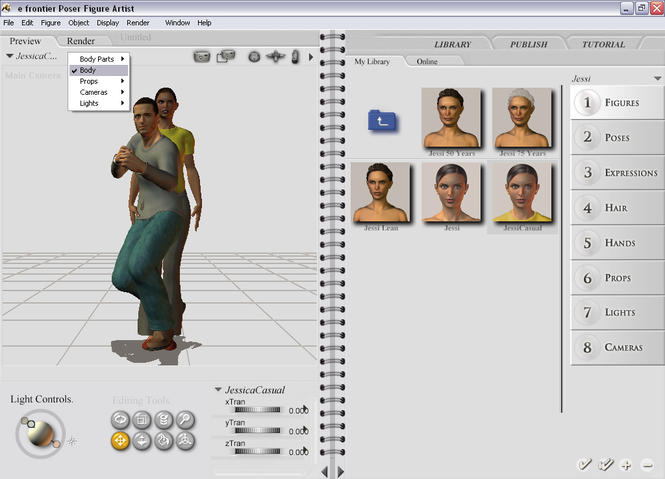 Poser Figure Artist Screenshot 2