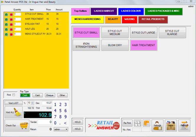Retail Answer POS Lite Screenshot