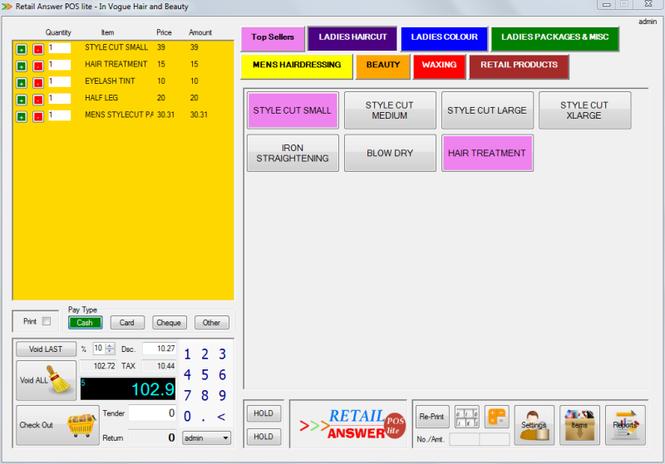 Retail Answer POS Lite Screenshot