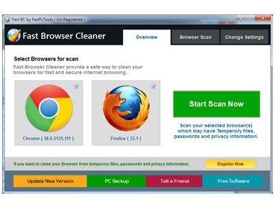 Fast Browser Cleaner Screenshot