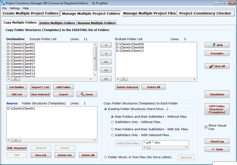 Project Consistency Manager Screenshot 2