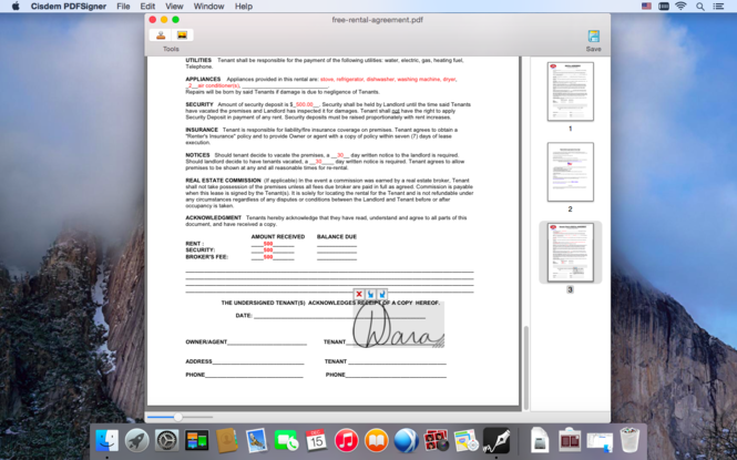 Cisdem PDFSigner for Mac Screenshot