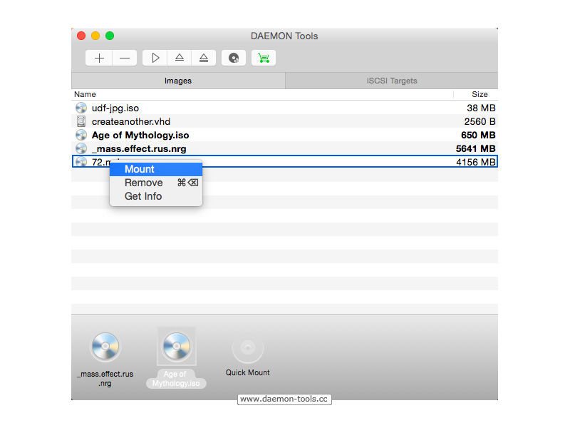 DAEMON Tools for Mac Screenshot 5
