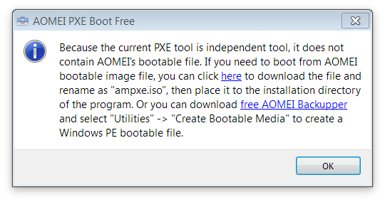 AOMEI PXE Boot Free Screenshot 2
