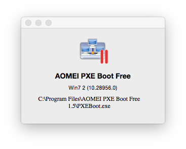 AOMEI PXE Boot Free Screenshot 3