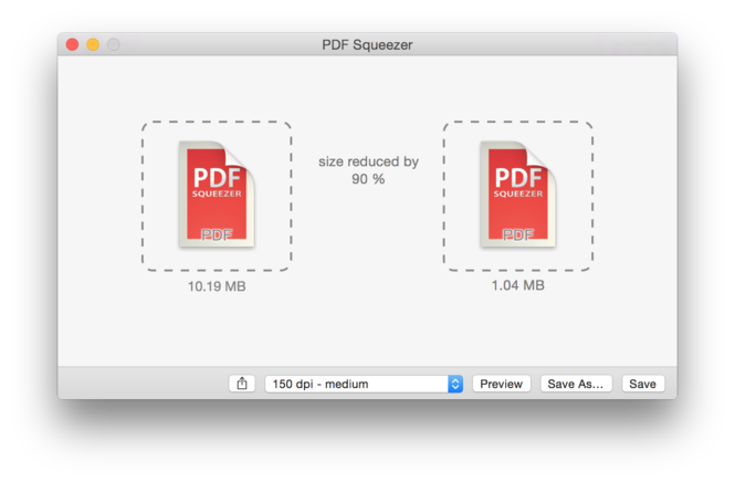 PDF Squeezer Screenshot 1