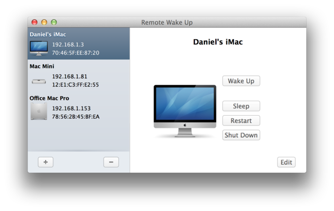 Remote Wake Up Screenshot