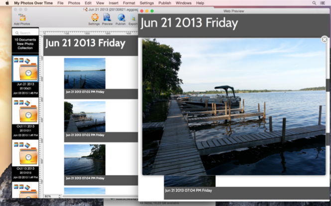 My Photos Over Time Screenshot 4
