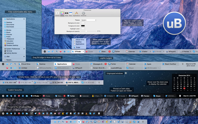 uBar Screenshot