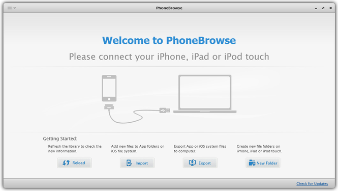 PhoneBrowse for Mac Screenshot 1