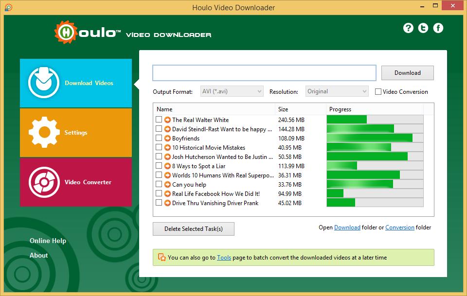 Houlo Video Downloader Screenshot