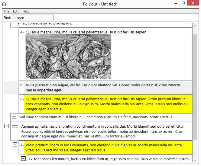 Foldout Screenshot 1